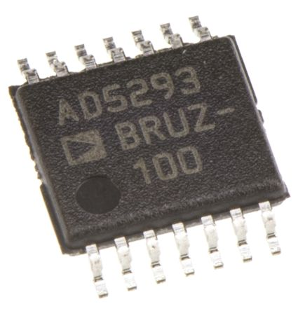 AD5293BRUZ-100, Digital Potentiometer 100kΩ 1024-Position Linear Serial-SPI 14-Pin TSSOP