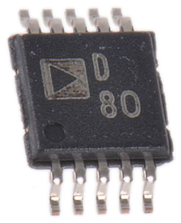 Analog Devices AD5663ARMZ, 2-channel 16 bit Serial DAC, 220ksps, 10-Pin MSOP