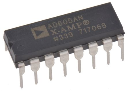 Analog Devices AD605ANZ, Dual Controlled Voltage Amplifier Single Ended 4.5 → 5.5 V 16-Pin PDIP