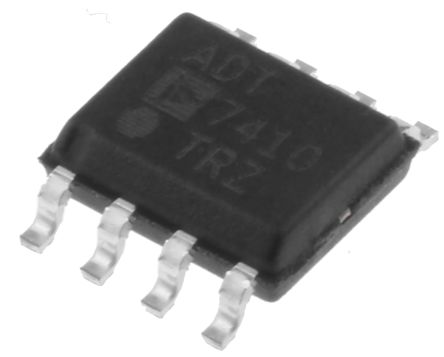 Analog Devices ADT7410TRZ, Temperature Sensor -55 → +150 °C ±0.5°C Serial-I2C, 8-Pin SOIC