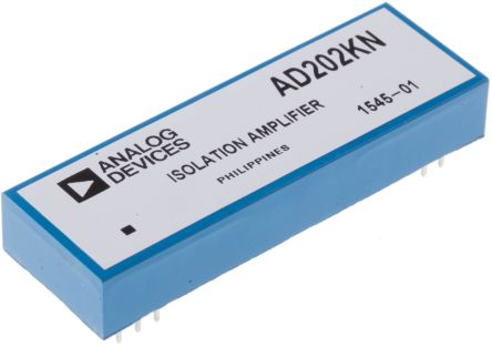 Analog Devices AD202KN, Isolation Amplifier, 15 V 2-channel, 10-Pin PDIP