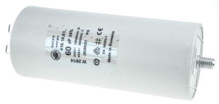 Ducati Energia 60μF Polypropylene Capacitor PP 450V ac ±5% Tolerance Stud  Mount 4 16 10 Series