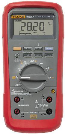 Fluke 28EX Handheld Digital Multimeter, 10A ac 1000V ac 10A dc 1000V dc