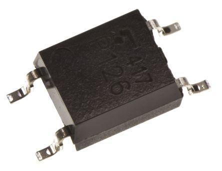 Toshiba, TLP126TPL,F AC/DC Input, Transistor Output Optocoupler, Surface Mount, 4-Pin SOP 150