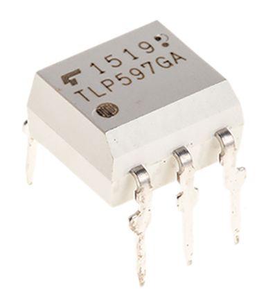 Toshiba TLP597GAF DC Input MOSFET Output Dual Optocoupler, Through Hole, 6-Pin DIP 50