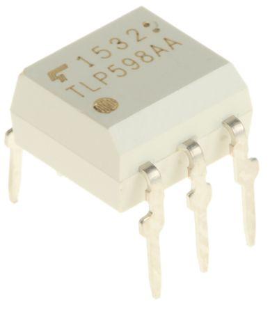 Toshiba TLP598AAF DC Input MOSFET Output Dual Optocoupler, Through Hole, 6-Pin DIP 50