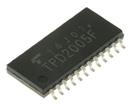 Toshiba Interruptor de potencia inteligente TPD2005FEL,F, 8 canales, Interruptor de lado alto 8 → 40V 1.2W 500