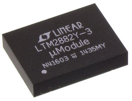 Linear Technology LTM2882IY-3#PBF, Cable Transceiver, 2 (RS232)-TRX 10MBps, 32-Pin BGA