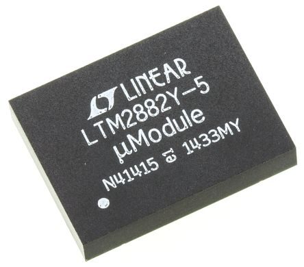 Linear Technology LTM2882IY-5#PBF, Cable Transceiver, 2 (RS232)-TRX 10MBps, 32-Pin BGA