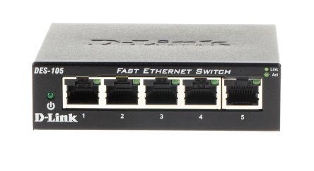 D-Link, 5 port Unmanaged Network Switch, Desktop