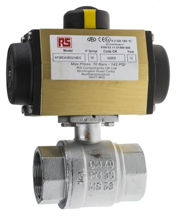 RS PRO Ball Pneumatic Valve, 1-1/2 in BSP
