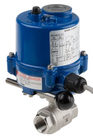 RS PRO Ball Brass Ball Valve with Electric Actuator, 1/2 in BSP
