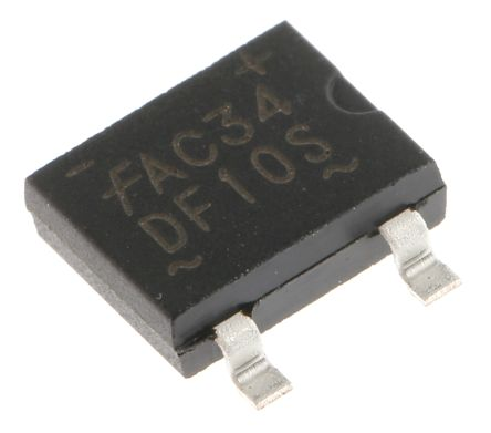 ON Semiconductor DF10S, Bridge Rectifier, 1.5A 1000V, 4-Pin SDIP