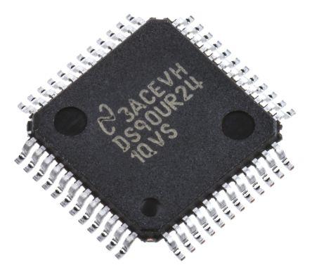 Texas Instruments DS90UR241QVS/NOPB, LVDS Serializer 2-Bits CMOS 1030Mbps, 48-Pin, TQFP