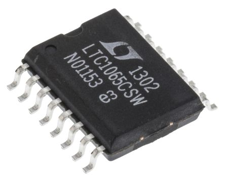 Linear Technology LTC1065CSW#PBF, Active Filter, Low Pass Filter, 5th Order Switched Capacitor 50kHz, 16-Pin SOIC W