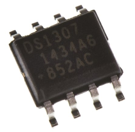 Maxim DS1307Z+T&R, Real Time Clock (RTC), 56B RAM Serial-I2C, 8-Pin SOIC