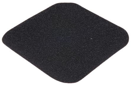 Black Anti-Slip Flooring Polymer Tile With Solid Surface Finish product photo
