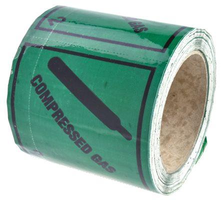 SAV label 'COMPRESSED GAS' roll 310
