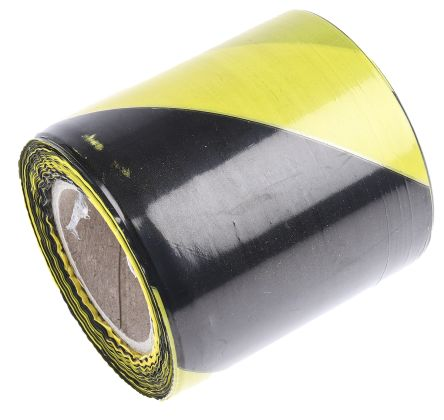 Barricade tape,Black/Yellow, 75mmx100m product photo