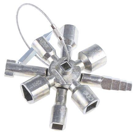 00 11 01 Knipex Cabinet Key 3 12 Mm Zinc Alloy Knipex