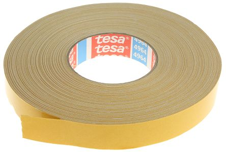 4964 White Double Sided Cloth Tape, 25mm x 50m, 0.39mm Thick product photo