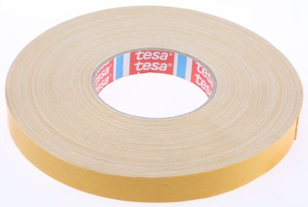 4964 White Double Sided Cloth Tape, 19mm x 50m, 0.39mm Thick product photo