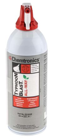 Chemtronics High Powered Invertible Typhoon Blast All-Way Duster Air Duster, 200 ml