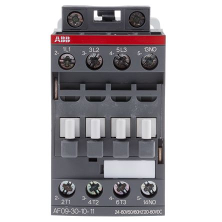 ABB AF Range AF09 3 Pole Contactor, 3NO (Main), NO (Auxiliary), 25 A, 4 kW