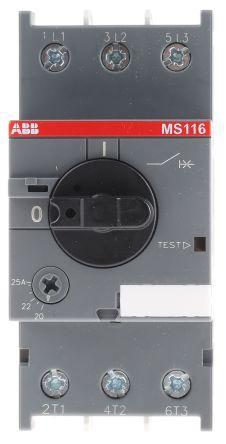 ABB MS Range 690 V ac Motor Protection Circuit Breaker, 3P 20 → 25 A, 15 kA