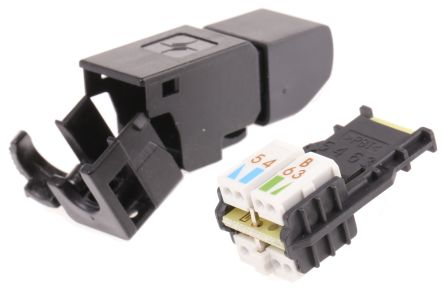 RJ45 Connectors | RS Components on wiring diagram for usb connector, wiring rj45 ends, wiring diagram for rj45 crossover cable, cat 5 rj45 connector,