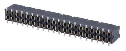 Samtec, SSM 2.54mm Pitch 40 Way 2 Row Straight PCB Socket, Surface Mount, Solder Termination