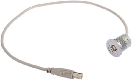 Harting USB 2.0 Female USB B Male USB B USB Extension Cable, 0.5m product photo