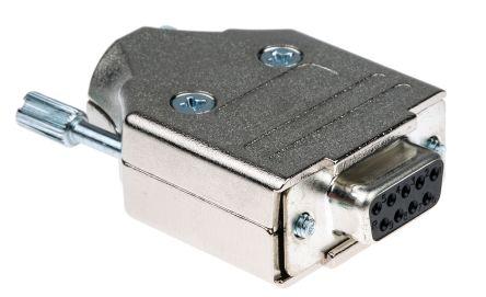 SUB-D-Buchse 9-polig mit Lötkelch vergoldete gestanzte Kontakte