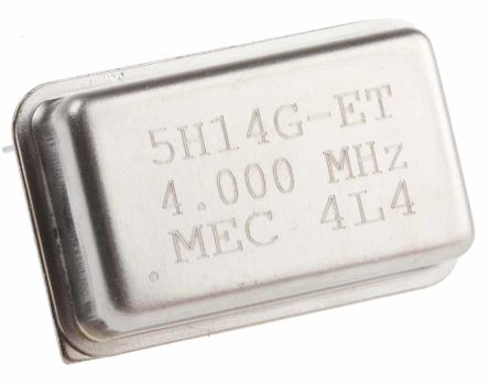 5H14ET-4.000, Crystal Oscillator, 4 MHz, ±50ppm HCMOS, TTL 15pF, 14-Pin PDIP, 20.2 x 10.7 x 5.08mm