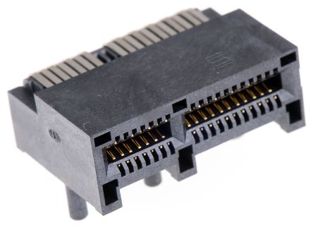 Samtec PCIE Series, Right Angle Female PCB Edge Connector, Through Hole  Mount, 36 Way, 2 Row, 1mm Pitch, 2 5A