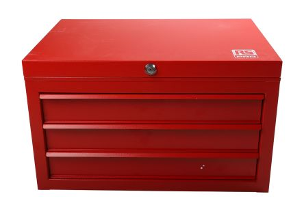 3 drawer Steel Tool Chest, 365mm x 620mm x 440mm product photo