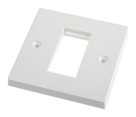 SINGLE GANG WALL PLATE 50X25 CUT OUT