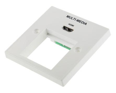 WALLPLATE HDMI + 45X45 APERTURE