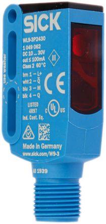 Sick Retro-reflective Photoelectric Sensor 0 → 4 m Detection Range PNP IP66, IP67, IP69K Block Style WL9-3P2430