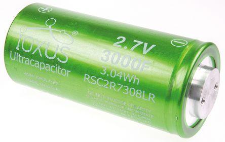 Ioxus 3000F Electric Double Layer Capacitor 0 → +10% Tolerance Screw  Terminal, Supercap RSC Series 2 7V dc