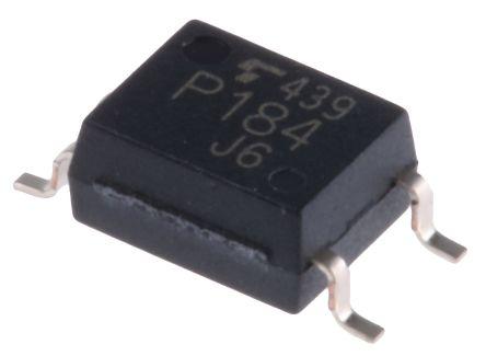 Optoacoplador Toshiba, TLP184EO, entrada AC, Salida Transistor Montaje en Superficie, SO, 4 pines 3000