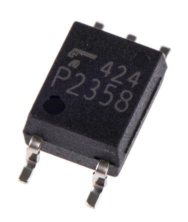 Optoacoplador Toshiba, TLP2358ET, entrada DC, Salida Fotodetector Montaje en Superficie, SOIC, 5 p 125