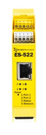 Brainboxes Industrial Interface Converter Ethernet To Serial Device Server for use with RS232 Network, RS422/485 Full