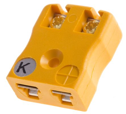 RS PRO ANSI Miniature PCB Socket Connector for use with Type K Thermocouple  Type K, Miniature