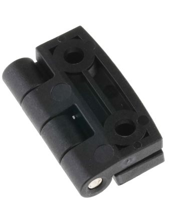 Matte Glass Reinforced Nylon PA, Stainless Steel Square Hinge with a Knurled Pin Screw, 40mm x 40mm x 5.2mm product photo