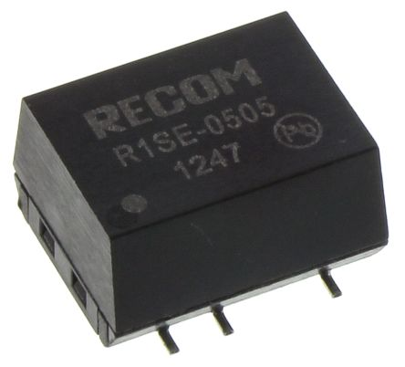 Recom Surface Mount 1W Isolated DC-DC Converter, Vin 4.5 → 5.5 V dc, I/O isolation 1kV dc, Vout 5V dc