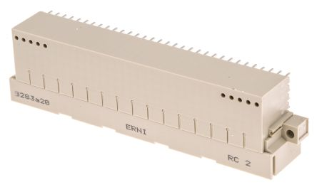 ERNI, ERNIPRESS 160 Way 2.54mm Pitch, Type E160 Class C1, C2, 5 Row, Right Angle DIN 41612 Connector, Plug