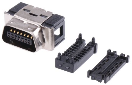 101 Series 1.27mm Pitch 14 Way Mini D Ribbon IDC Connector, Plug, Steel Shell product photo