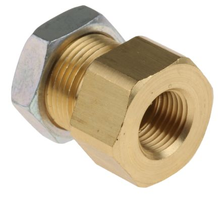 SMC Pneumatic Bulkhead Threaded-to-Tube Adapter, Push In 6 mm, Rc 1/8 Female BSPPx6mm