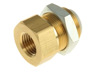 Pneumatic Bulkhead Threaded-to-Tube Adapter, Push In 10 mm, Rc 1/4 Female BSPPx10mm product photo